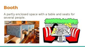 Survival Vocabulary Unit 9: Restaurant Words Powerpoint