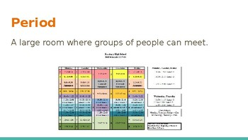 Survival Vocabulary Unit 6: School Words Powerpoint