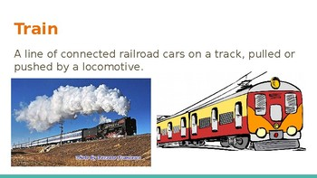 Survival Vocabulary Unit 10: Travel Words Powerpoint