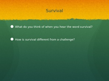 Survival and Challenge Thematic PPT