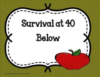 Survival at 40 Below - Tri- Folds + Activities ( 5th Grade Reading Wonders)