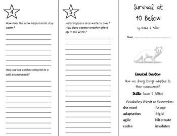 Survival at 40 Below Trifold - Wonders 5th Grade Unit 6 Week 3
