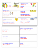 Survival cards for newcomer ELL