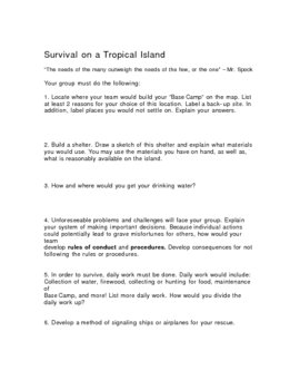 Survival on a Tropical Island (Lord of Flies Pre-activity) 2