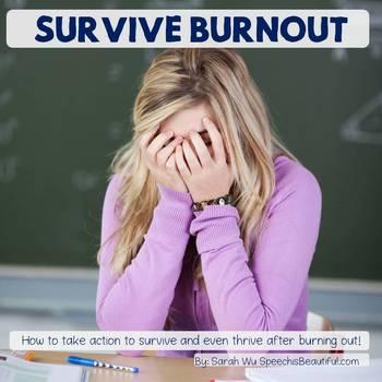 Survive Burnout - eBook for SLPs Ready for a Change