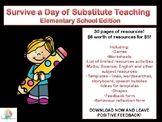 Survive a Day of Substitute Teaching Elementary School Edition