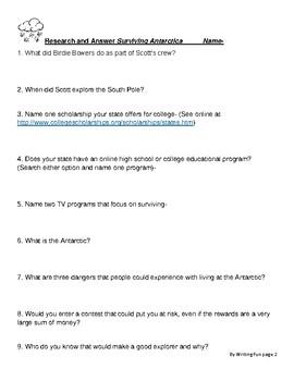 Surviving Antarctica  Reality TV 2083  Study Guide