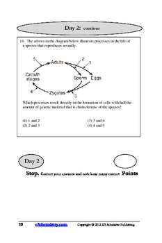 Surviving Biology Regents Exam: Questions for Exam Practice (Revised for 2014)