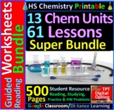 HS Chemistry Essential Skills 61 Worksheets Super Bundle;