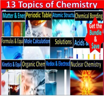 Chemistry Essential Skills 61 Guided Lessons Super Bundle: A Whole Year Resource