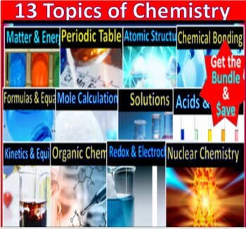 Surviving Chemistry Ultimate Teaching Bundle: 1500 pgs of worksheets, notes, ppt