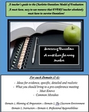 Charlotte Danielson for Teachers and Administrators; the m