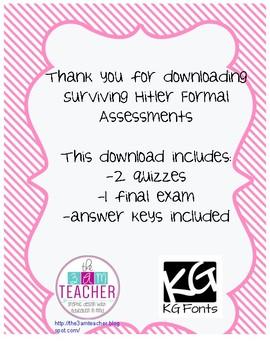 Surviving Hitler Formal Assessments