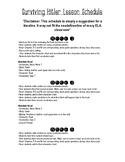 Surviving Hitler Unit Timeline