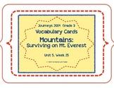 Surviving Mount Everest, Vocabulary Cards, Unit 5, Lesson 25, 3rd Grade