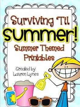 Surviving 'Til Summer! {Summer Themed Printables}