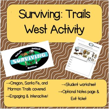 Surviving: Western Trails Activity-Oregon, Mormon, Santa Fe Trails