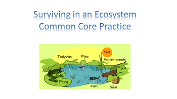 Surviving in an Ecosystem Common Core Science Practice