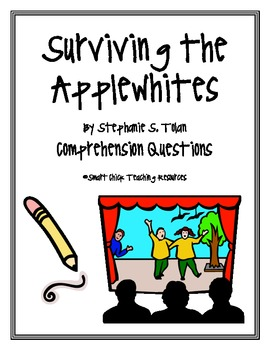 """""""Surviving the Applewhites"""", by S. Tolan, Comprehension Questions"""