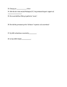 Surviving the Dust Bowl Movie Worksheet