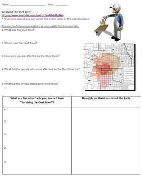 worksheet: Dust Bowl Worksheets Preview Page 1. Dust Bowl Worksheets
