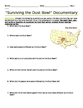 Surviving the Dust Bowl Viewing Guide