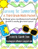 Surviving the Summertime: 3rd Grade Math Packet {Common Core Aligned}