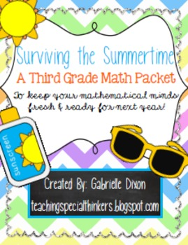Surviving the Summertime: 3rd Grade Math Packet {Common Co