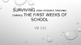 Surviving the first weeks of school in a VB classroom - powerpoint