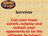 Survivor All Subject Review Game- 4th Grade