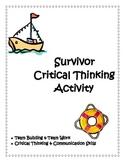 Survivor Ice Breaker / Critical Thinking Activity
