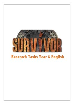 Survivor Research Tasks Year 7 or 8 English