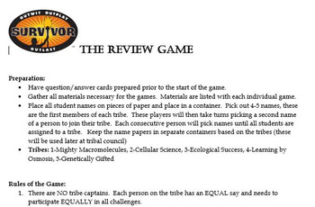 Survivor Review Game