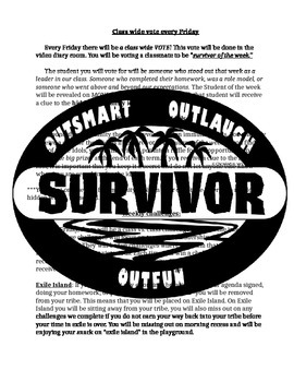 Survivor Themed classroom Management