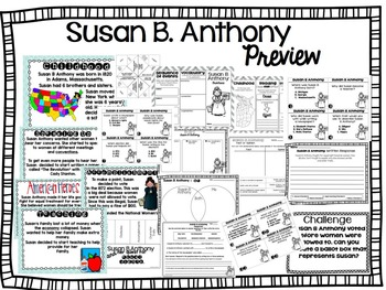 Susan B Anthony- Two Weeks of Activities