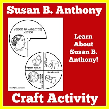 Susan B Anthony Activity   Susan B Anthony Craft   Womens Suffrage