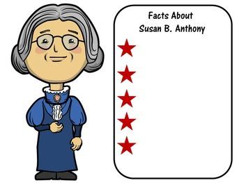 FREE Susan B. Anthony Writing Paper