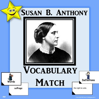 Susan B. Anthony Vocabulary Match