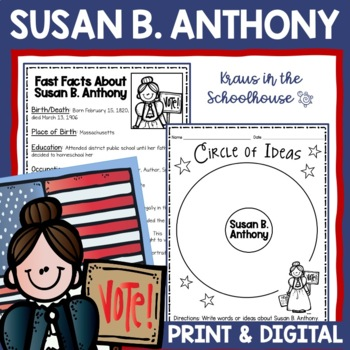Susan B. Anthony Research Activity Sheets and Graphic Organizers