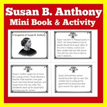 Susan B. Anthony | Biography Activity