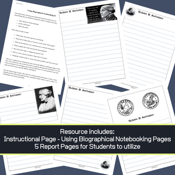 Susan B Anthony - Biographical Research & Notebooking