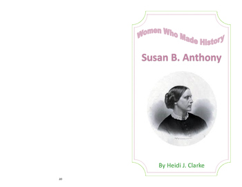 Susan B. Anthony Biography Guided Reading Book-Women's History Month