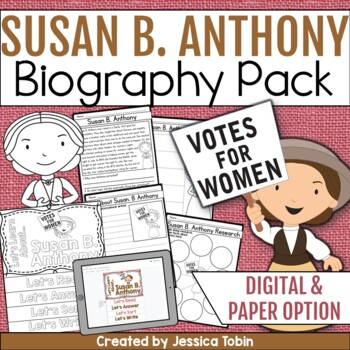 Susan B. Anthony Biography Pack