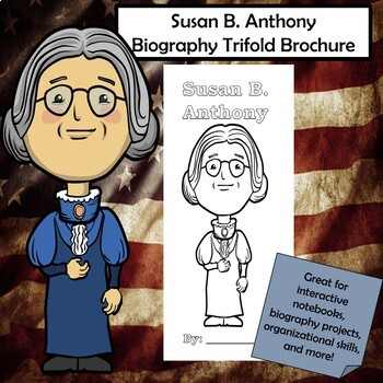 Susan B. Anthony Biography Trifold Brochure
