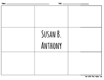 Susan B. Anthony Character Quilt