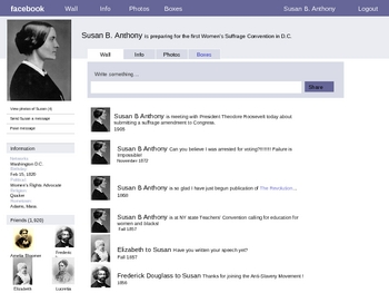 Susan B Anthony Facebook Page