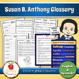 Susan B Anthony Glossary & Poster Set
