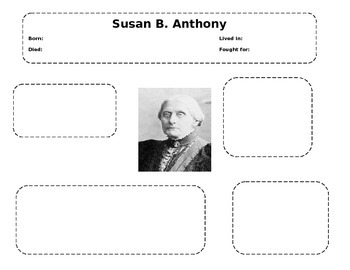 Susan B. Anthony Graphic Organizer