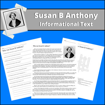 Susan B Anthony - Informational Text