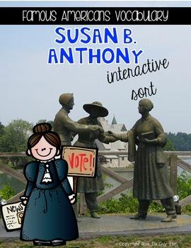 Susan B. Anthony {Interactive Vocabulary Sort}